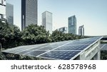 solar panels and urban...