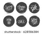 set of spring sale special... | Shutterstock .eps vector #628586384