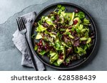 healthy lettuce salad with... | Shutterstock . vector #628588439