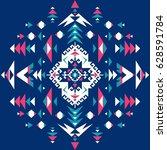 seamless ethnic pattern... | Shutterstock .eps vector #628591784