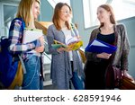 university students on a... | Shutterstock . vector #628591946