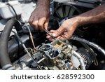 repair old vintage engine... | Shutterstock . vector #628592300