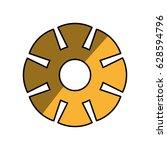 gear machinery piece   Shutterstock .eps vector #628594796