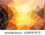 yellow coral pink black... | Shutterstock .eps vector #628597073