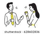 businessman and businesswoman ...   Shutterstock .eps vector #628602836