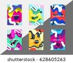 artistic funky design for print ... | Shutterstock .eps vector #628605263