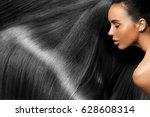 beautiful hair. beauty woman... | Shutterstock . vector #628608314