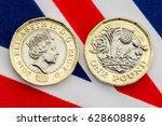 New British Pound Coin Showing...