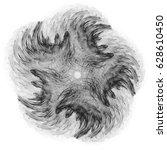 abstract fractal illustration...   Shutterstock . vector #628610450