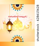 ramadan kareem wallpaper design ... | Shutterstock .eps vector #628615628