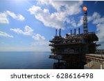 offshore construction platform... | Shutterstock . vector #628616498