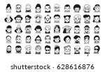 big set of people avatars for... | Shutterstock .eps vector #628616876