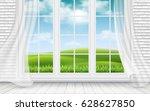 landscape view through big...   Shutterstock .eps vector #628627850