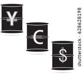 vector illustration of oil... | Shutterstock .eps vector #628628198