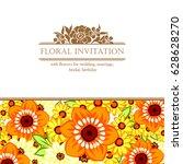 vintage delicate invitation... | Shutterstock .eps vector #628628270