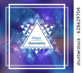 magic geometry background with... | Shutterstock .eps vector #628629704
