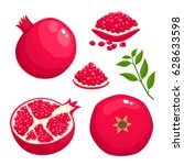 bright vector set of colorful... | Shutterstock .eps vector #628633598