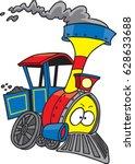 cartoon train engine