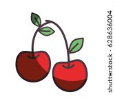 red delicious cherry healthy... | Shutterstock .eps vector #628636004