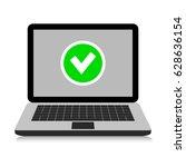 laptop  icon. vector... | Shutterstock .eps vector #628636154