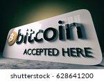 bitcoin   3d illustration   Shutterstock . vector #628641200