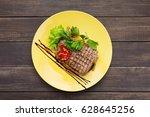 Beef Steak With Vegetables And...