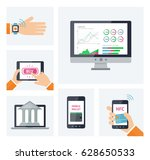 mobile banking concept info...
