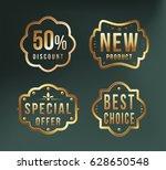 high quality luxury golden... | Shutterstock .eps vector #628650548
