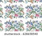 hand drawing graphics pencils... | Shutterstock . vector #628658540