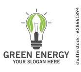 green energy logo   Shutterstock .eps vector #628661894