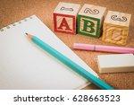 wood letter blocks alphabet abc ...   Shutterstock . vector #628663523