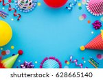 birthday party background with... | Shutterstock . vector #628665140