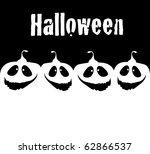 vector halloween background. | Shutterstock .eps vector #62866537