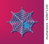 spider on web illustration....   Shutterstock .eps vector #628671140