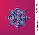 spider on web illustration....   Shutterstock .eps vector #628671230