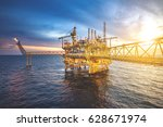 industrial offshore oil and gas ... | Shutterstock . vector #628671974