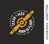 Texas Aces Airplane Vector...