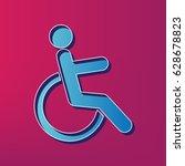 disabled sign illustration.... | Shutterstock .eps vector #628678823