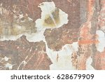 texture of old painted wall... | Shutterstock . vector #628679909