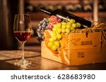 composition of fruit box  wine...