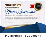 vector certificate or diploma... | Shutterstock .eps vector #628688144