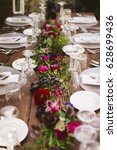 luxury table for a wedding... | Shutterstock . vector #628699436