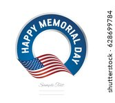 memorial day usa flag color... | Shutterstock .eps vector #628699784