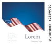brochure abstract design usa... | Shutterstock .eps vector #628699790