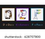D E F Letter   Character Lette...