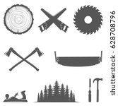 set of carpentry tools... | Shutterstock .eps vector #628708796