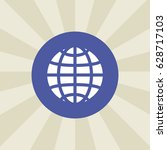 globe icon. sign design.... | Shutterstock .eps vector #628717103