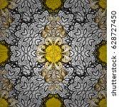 royal luxury golden baroque... | Shutterstock .eps vector #628727450