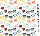 watercolor fashion illustration.... | Shutterstock . vector #628734908