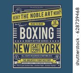 boxing fight poster typography  ... | Shutterstock .eps vector #628739468